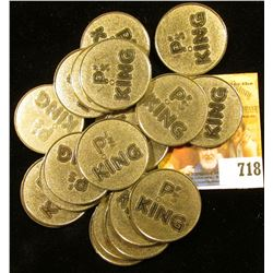 "Roll of (20) Near Uncirculated ""P's King"" Half-dollar sized Tokens."