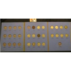 1895-1912 D Partial Set of Liberty Nickels in a Whitman folder.