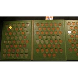 1910-64 Partial Set of Lincoln Cents in a Deluxe green Whitman folder.