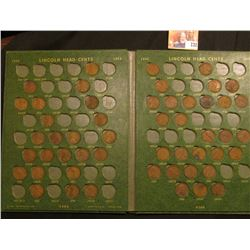 1910-66 Partial Set of Lincoln Cents in a Deluxe green Whitman folder.