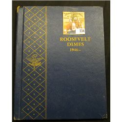 1946- Roosevelt Dimes blue Deluxe Whitman Album. Includes a partial set of High Grade Roosevelt Dime