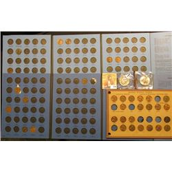 (2) Early Lincoln Cent Whitman folders with many coins; an old Wayte Raymond page with several high