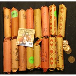 "(16) Rolls of Lincoln Cents in paper wrappers, most appear to be ""Wheat Back"" Cents, I have never ch"