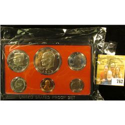 1973 S Cameo Frosted U.S. Proof Set in original holder. Includes Cent to Eisenhower Dollar.