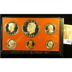 1978 S Superb Cameo Frosted U.S. Proof Set in original holder. Includes Cent to Eisenhower Dollar.