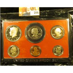 1979 S Cameo Frosted U.S. Proof Set in original holder. Includes Cent to Dollar.