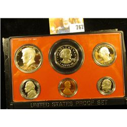 1979 S Cameo Frosted U.S. Proof Set in a 1978 S holder. Includes Cent to Dollar.