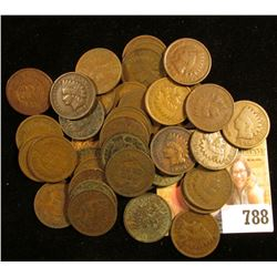 1911 P Lincoln Cent & (40) Mixed Date Old Indian Head Cents.