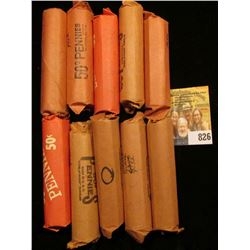 """(10) Rolls of Lincoln Cents in paper wrappers, unchecked by me, but most or all appear to be """"Wheat"""