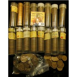 "Approximately (16) Rolls of Lincoln Cents, the majority of which are ""Wheat Backs"" and in Plastic tu"