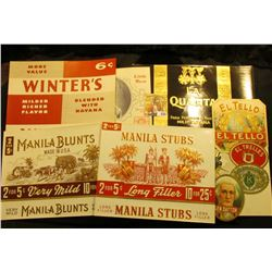 (11) Different Very Colorful 50-100 Year Old Cigar Box Labels.