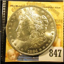 1884 O U.S. Morgan Silver Dollar. Brilliant Uncirculated.