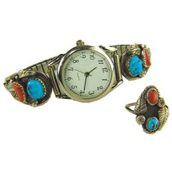Navajo Watchband & Ring