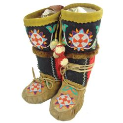 Cree Beaded Mukluks