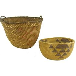 Maidu &Quinault Baskets