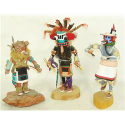 3 Hopi Kachina Carvings
