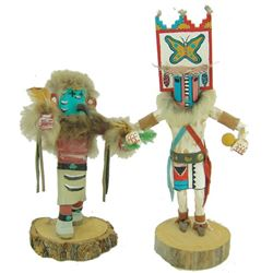 2 Kachina Carvings