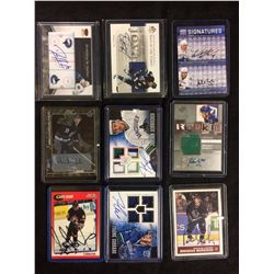 AUTOGRAPHED HOCKEY CARDS LOT