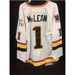 KIRK McLEAN AUTOGRAPHED VANCOUVER CANUCKS HOCKEY JERSEY