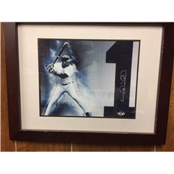 """GARY SHEFFIELD NY YANKEES IN 13"""" X 16"""" FRAME IS PICTURE & JERSEY NUMBER AUTOGRAPHED (SHEFFIELD AUTH)"""