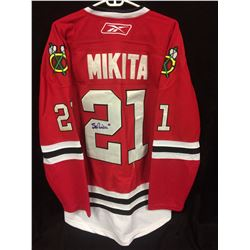 STAN MIKITA AUTOGRAPHED CHICAGO BLACK HAWKS JERSEY