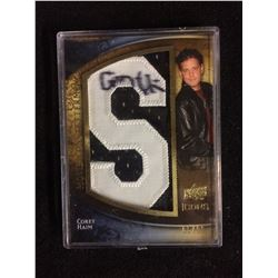 COREY HAIM AUTOGRAPHED MOVIE ICONS LETTERMAN CARD / MANUFACTURED PATCH (05/20)