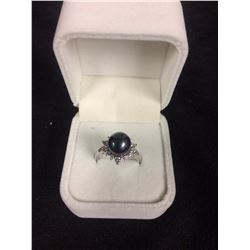 925 SILVER RING W/ GEMSTONE