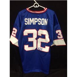 OJ SIMPSON AUTOGRAPHED BUFFALO BILLS FOOTBALL JERSEY