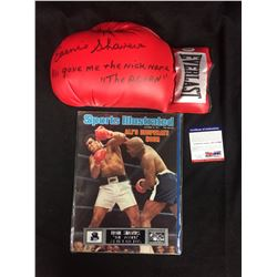 ERNIE SHAVERS AUTOGRAPHED EVERLAST BOXING GLOVE W/ PSA COA (INSCRIBED)