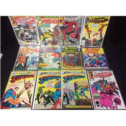 SPIDER-MAN, ACTION COMICS & SUPERMAN COMIC BOOK LOT