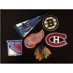 NHL TEAM CRESTS & PENNANT LOT