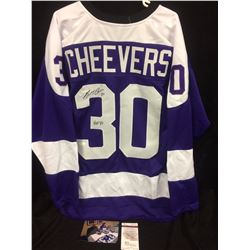 GERRY CHEEVERS AUTOGRAPHED CLEVELAND CRUSADERS HOCKEY JERSEY W/JSA COA