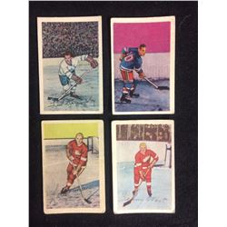 1952-53 Parkhurst HOCKEY CARD LOT (WILSON, WOIT, KENNEDY, LAPRADE)