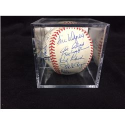 LA DODGERS LEGENDS ONL AUTOGRAPHED BASEBALL SIGNED BY 22 W/ GARVEY, JOHN, DEMPSEY (JSA LOA)
