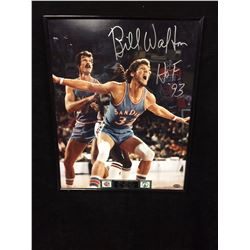 "BILL WALTON AUTOGRAPHED 16"" X 20"" FRAMED PHOTO INSCRIBED HOF '93 (PSA COA)"