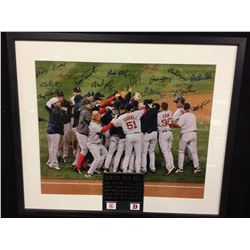 "BOSTON RED SOX ""BEST PLAYERS"" AUTOGRAPHED  16"" X 20"" FRAMED PHOTO (SUPERSTARS COA)"