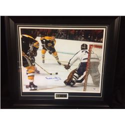 "BOBBY ORR AUTOGRAPHED 24"" X 24"" FRAMED PHOTO (PSA COA)"