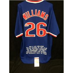"""Billy Williams Signed Cubs Stat Jersey Inscribed """"H.O.F. 87'' (JSA COA)"""