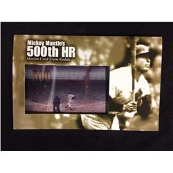 MICKEY MANTLE'S 500TH HR MOTION CARD FROM KODAK
