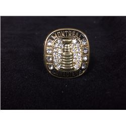 MONTREAL CANADIENS REPLICA STANLEY CUP RING (ELMER LACH 1946)