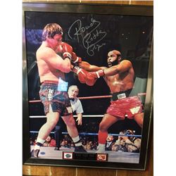 """ROWDY RODDY PIPER AUTOGRAPHED 18"""" X 22"""" FIGHTING MR.T (STACKS OF PLAQUES)"""