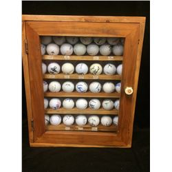 AUTOGRAPHED GOLF BALLS IN DISPLAY CASE (VANCOUVER BC, CANADIAN OPEN)