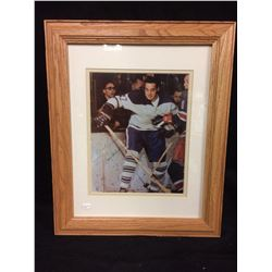 """FRANK MAHOVLICH AUTOGRAPHED 16"""" X 20"""" FRAMED PHOTO"""