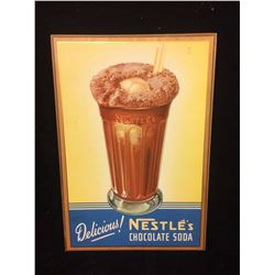 VINTAGE WOODEN NESTLE'S ADVERTISING SIGN (MADE IN USA)
