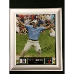 "STEVE STRICKER AUTOGRAPHED FRAMED 10"" X 12"" PGA PHOTO (JSA COA)"