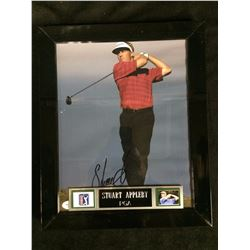 "STUART APPLEBY AUTOGRAPHED FRAMED 10"" X 12"" PHOTO (JSA COA) PGA GOLF"
