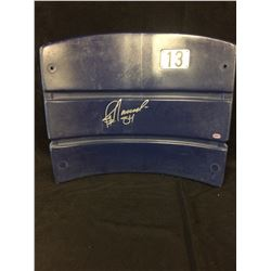 JAY NOVACEK AUTOGRAPHED STADIUM SEATBACK FROM DALLAS STADIUM (GT SPORTS COA)