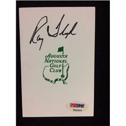 "RAY FLOYD AUTOGRAPHED SCORECARD ""AUGUSTA NATIONAL GOLF CLUB"" (PSA COA)"