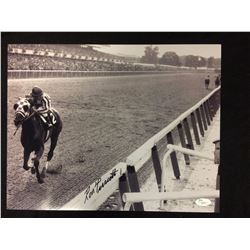 "RON TURCOTTE AUTOGRAPHED 11"" X 14"" PHOTO (JOCKEY FOR SECRETARIAT) W/ JSA COA"