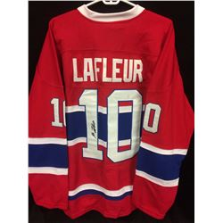 GUY LAFLEUR AUTOGRAPHED CANADIENS HOCKEY JERSEY